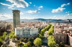 Flaniermeile La  Rambla in Barcelona